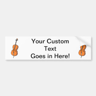 Cello Graphic , ViolinCello Music Design Bumper Sticker