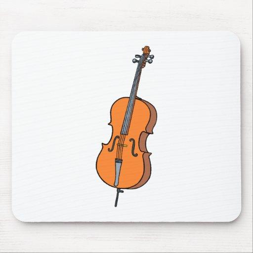 Cello Graphic , ViolinCello Music Design Mouse Pad