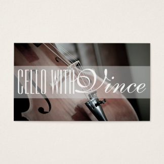 Cello Instructor Music Studio Business Card