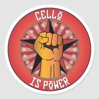 Cello Is Power Stickers