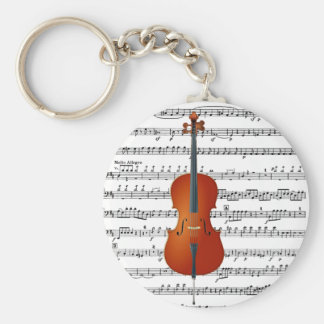 Cello & Me_ Basic Round Button Key Ring