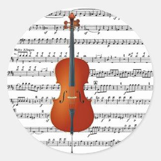 Cello & Me_ Round Sticker