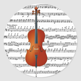 Cello & Me_ Round Stickers
