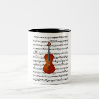 Cello & Me_ Two-Tone Coffee Mug