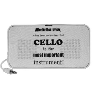 Cello Most Important Instrument Speaker System