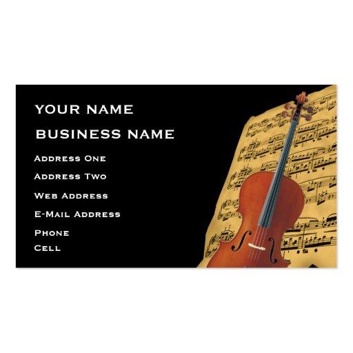 Cello Music Business Card