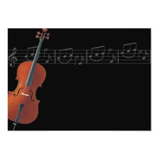"""Cello - Music Invitation 5"""" X 7"""" Invitation Card"""