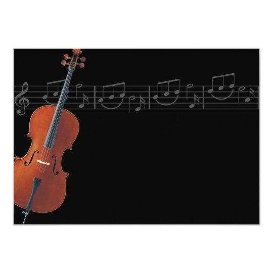 Cello - Music Invitation