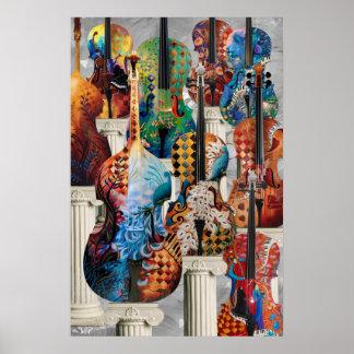 Cello Music Poster, Music Decor Wall Art