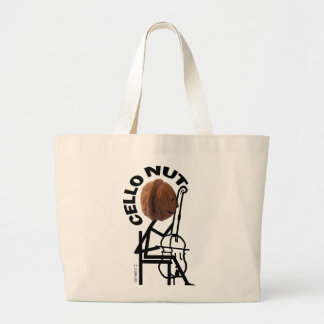 Cello Nut Large Tote Bag