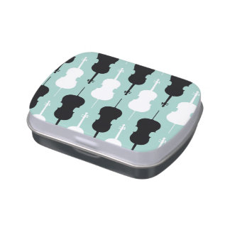 Cello Pattern - Teal Jelly Belly Tin