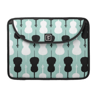 Cello Pattern - Teal Sleeve For MacBook Pro