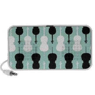Cello Pattern - Teal Travel Speaker