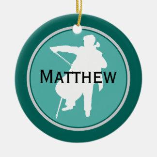 Cello Personalized Music Christmas Ornament