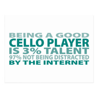 Cello Player 3 Talent Post Cards