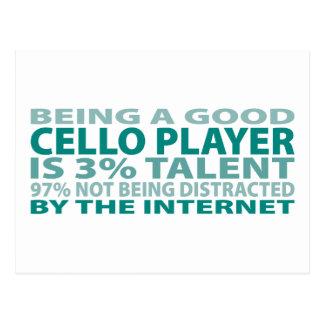 Cello Player 3% Talent Postcard