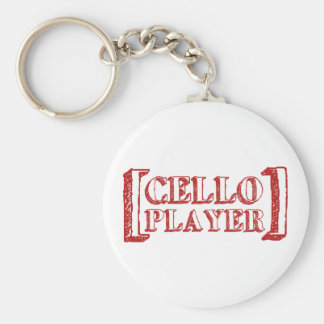 Cello Player Key Ring