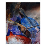 cello player poster