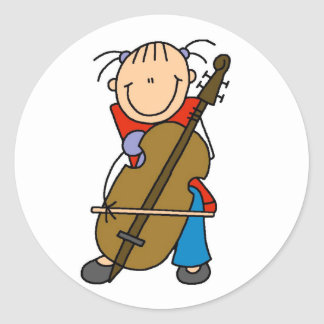 Cello Player Stickers Sticker