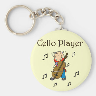 Cello Player Tshirts and Gifts Key Ring