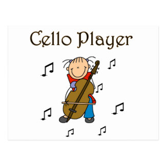 Cello Player Tshirts and Gifts Postcard