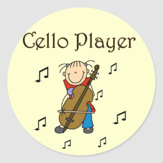 Cello Player Tshirts and Gifts Round Sticker