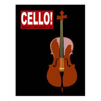 Cello! Postcard