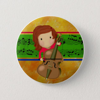 Cello Practice 6 Cm Round Badge