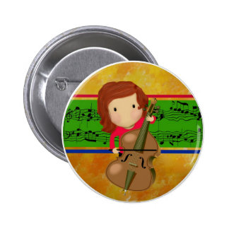 Cello Practice 6 Cm Round Badge