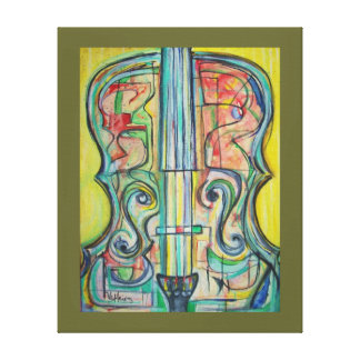 Cello Print on Stretched Canvas by ValAries Stretched Canvas Print
