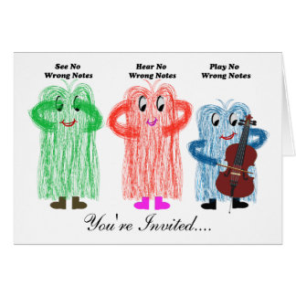Cello Recital Invitaion Greeting Card