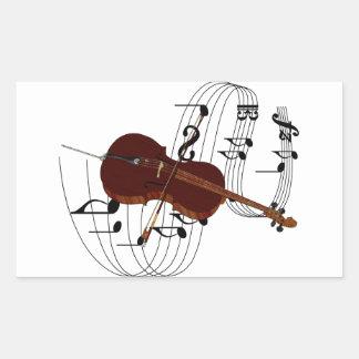 Cello Rectangular Sticker