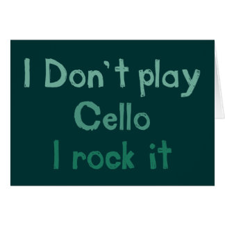 Cello Rock It Greeting Card