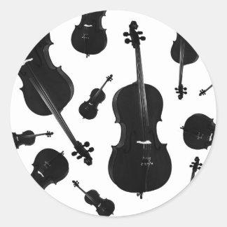cello round sticker