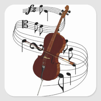 Cello Square Sticker