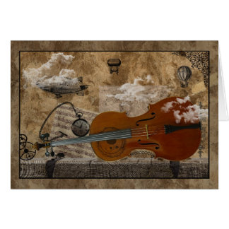 Cello Steampunk Suite Greeting Card