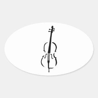 Cello Oval Sticker