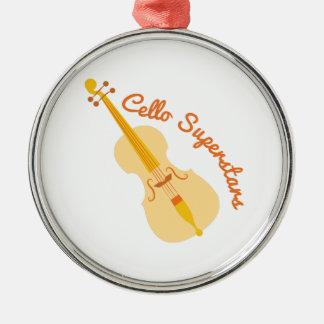 Cello Superstars Christmas Ornament