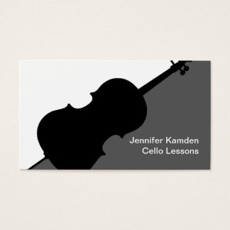 Cello Teacher Business Cards