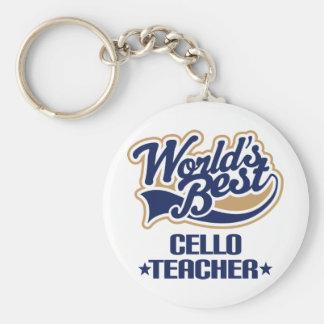 Cello Teacher Gift Key Ring