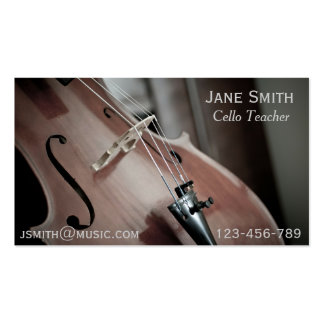 Cello Teacher String instrument music tutor Pack Of Standard Business Cards