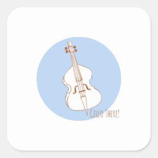 Cello There Square Stickers