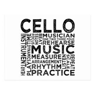 Cello Typography Postcard