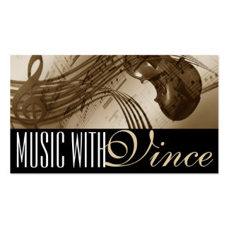 Cello Violin Instructor Music Studio Business Card