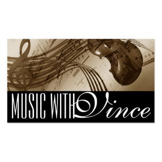 Cello Violin Instructor Music Studio Business Card
