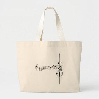 Cello Waltz Large Tote Bag