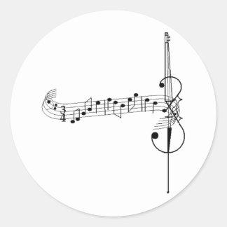 Cello Waltz Round Sticker