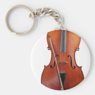 Cello with bow, close up key ring