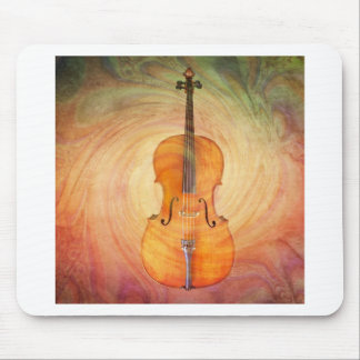 Cello with warm colorful textured background. mouse mat