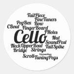 Cello Word Cloud Black Text